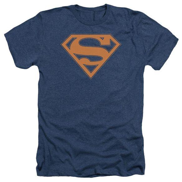 Superman & Orange Shield Adult Heather