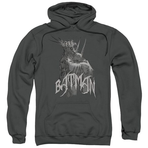 Batman Scary Right Hand Adult Pull Over Hoodie