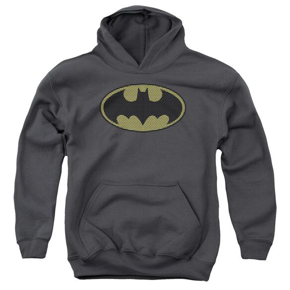 Batman Little Logos Youth Pull Over Hoodie