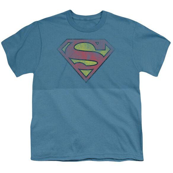 SUPERMAN INSIDE SHIELD - S/S YOUTH 18/1 - SLATE T-Shirt