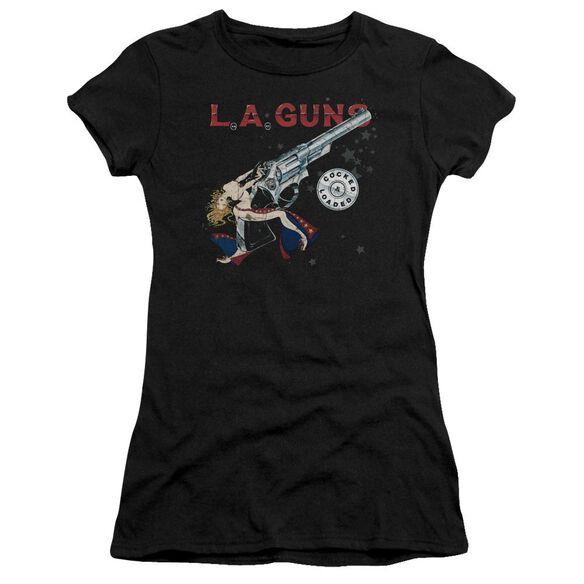 La Guns Cocked And Loaded Short Sleeve Junior Sheer T-Shirt