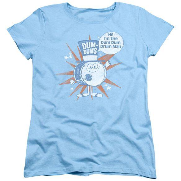 Dum Dums Drum Man Short Sleeve Womens Tee Light T-Shirt