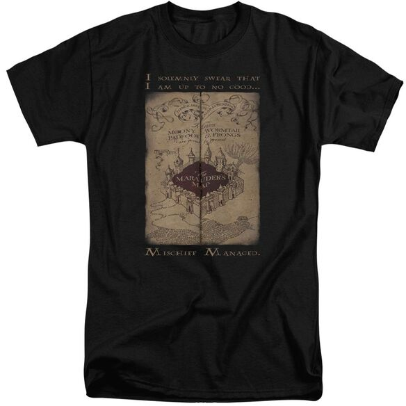 Harry Potter Marauders Map Words Short Sleeve Adult Tall T-Shirt