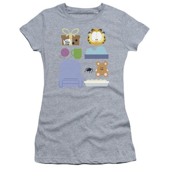 Garfield Gift Set Short Sleeve Junior Sheer Athletic T-Shirt