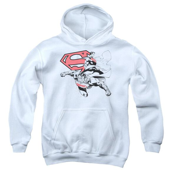 Superman Double The Power Youth Pull Over Hoodie