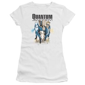Quantum And Woody Quantum And Woody Short Sleeve Junior Sheer T-Shirt