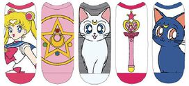 Sailor Moon Crystal Star Women's Low Cut Ankle Socks 5pk