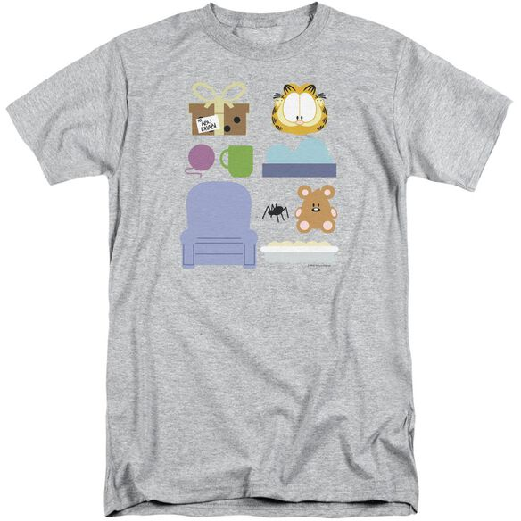 Garfield Gift Set Short Sleeve Adult Tall Athletic T-Shirt