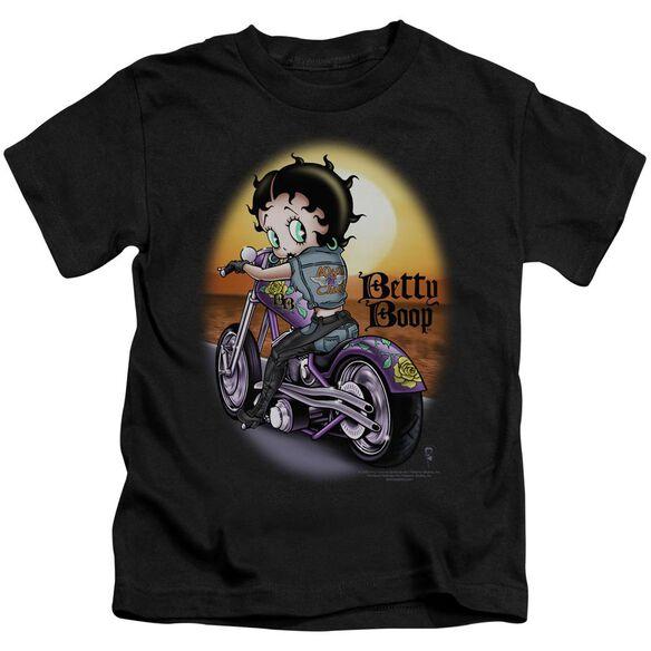 Betty Boop Wild Biker Short Sleeve Juvenile Black T-Shirt