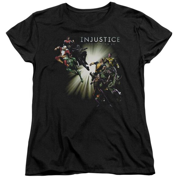 Injustice Gods Among Us Good Vs Evil Short Sleeve Womens Tee T-Shirt