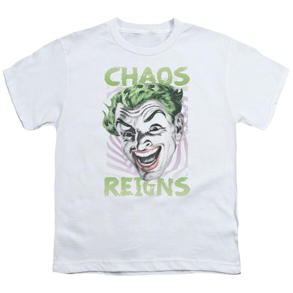 Batman Classic Tv Chaos Reigns Short Sleeve Youth T-Shirt