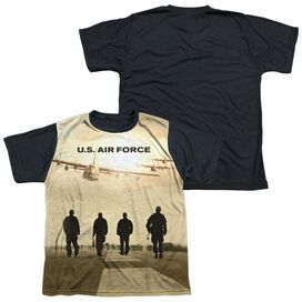 Air Force Long Walk Short Sleeve Youth Front Black Back T-Shirt