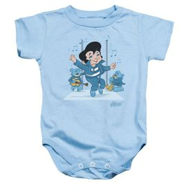 Elvis Jailhouse Rocker Infant Snapsuit Light Blue Xl