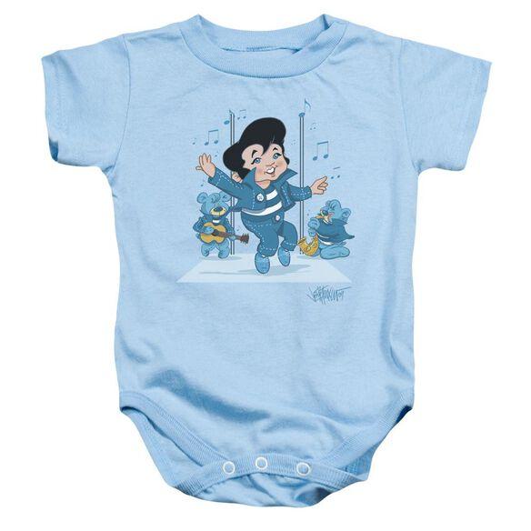 Elvis Jailhouse Rocker Infant Snapsuit Light Blue Xl
