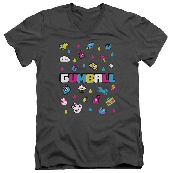 Amazing World Of Gumball Fun Drops Short Sleeve Adult V Neck T-Shirt
