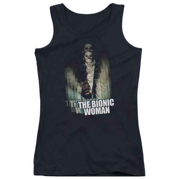 Bionic Woman Motion Blur Juniors Tank Top