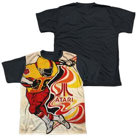 Atari Football Short Sleeve Youth Front Black Back T-Shirt