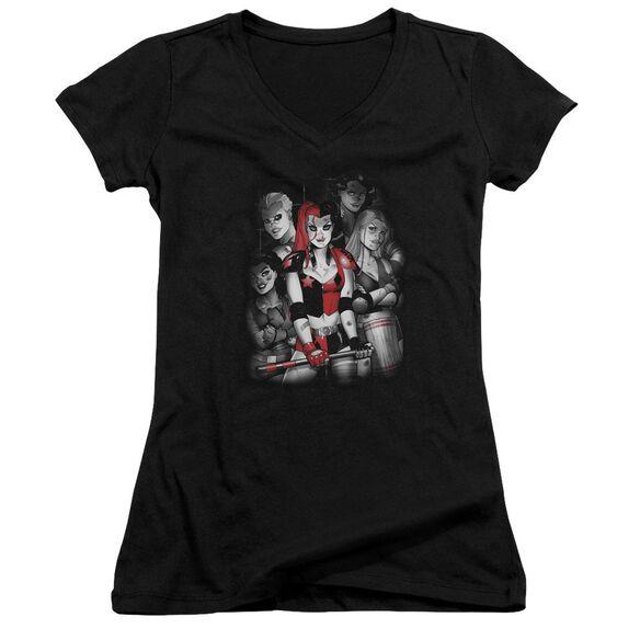 Batman Bad Gals Bw Junior V Neck T-Shirt