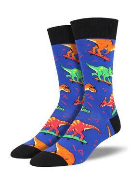 Skate or Dinosaur Men's Crew Socks [1 Pair]