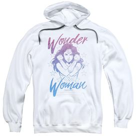 Wonder Woman Movie Retro Stance Adult Pull Over Hoodie