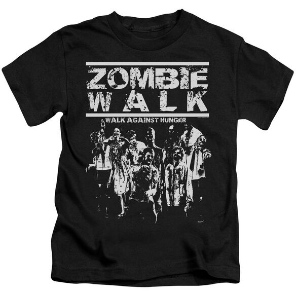 Zombie Walk Short Sleeve Juvenile Black T-Shirt