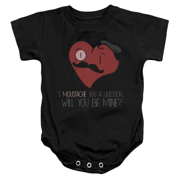 Popping The Question Infant Snapsuit Black Xl