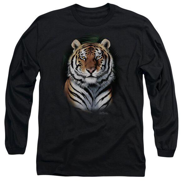 Wildlife Jungle Fire Long Sleeve Adult T-Shirt