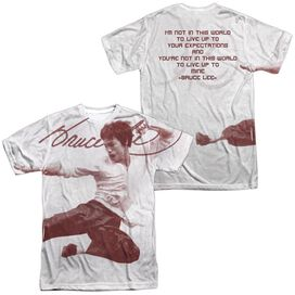 Bruce Lee Expectations (Front Back Print) Short Sleeve Adult Poly Crew T-Shirt