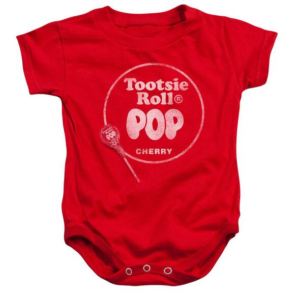 Tootsie Roll Tootsie Roll Pop Logo Infant Snapsuit Red