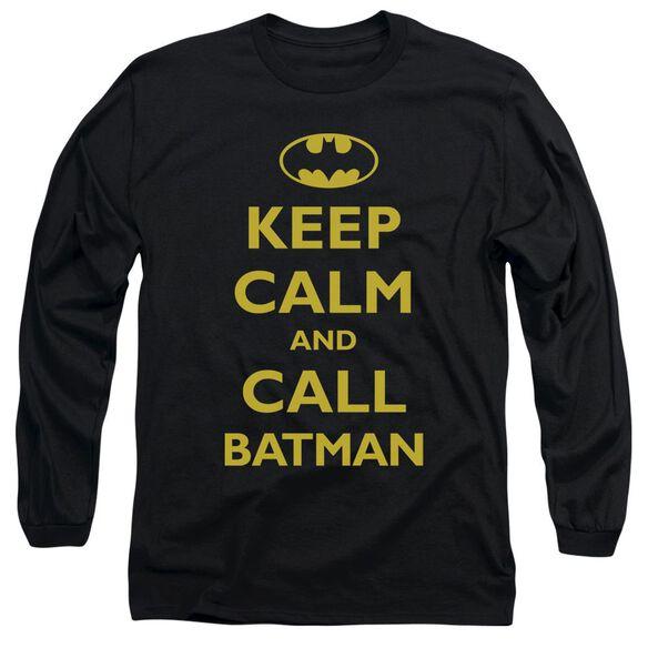 BATMAN CALL BATMAN - L/S ADULT 18/1 - BLACK T-Shirt