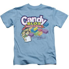 Dubble Bubble Candy Blox Short Sleeve Juvenile Carolina Blue T-Shirt