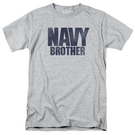 Navy Brother Short Sleeve Adult Athletic T-Shirt