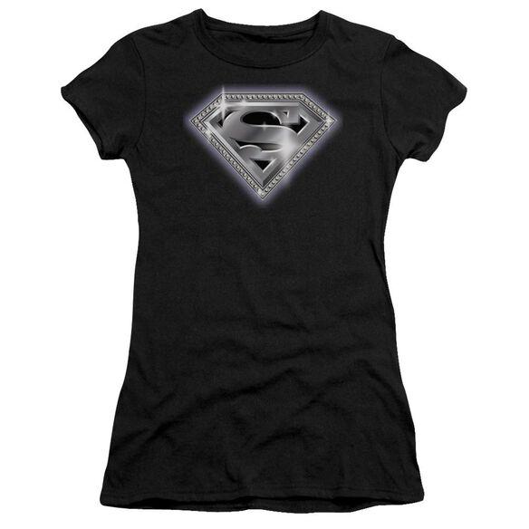 Superman Bling Shield Premium Bella Junior Sheer Jersey