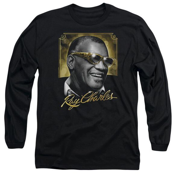 Ray Charles Golden Glasses Long Sleeve Adult T-Shirt