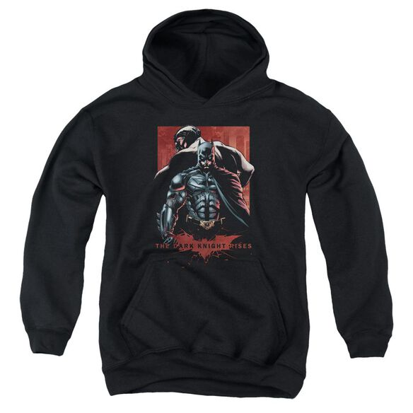 Dark Knight Rises Batman & Bane Youth Pull Over Hoodie