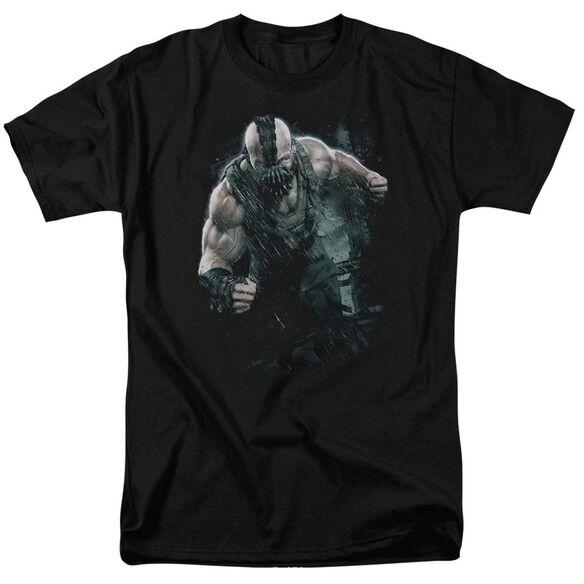 Dark Knight Rises Bane Rain Short Sleeve Adult Black T-Shirt