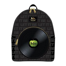 Loungefly The Beatles Let It Be Vinyl Record Mini-Backpack