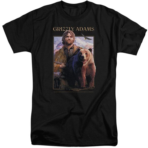 Grizzly Adams Collage Short Sleeve Adult Tall T-Shirt