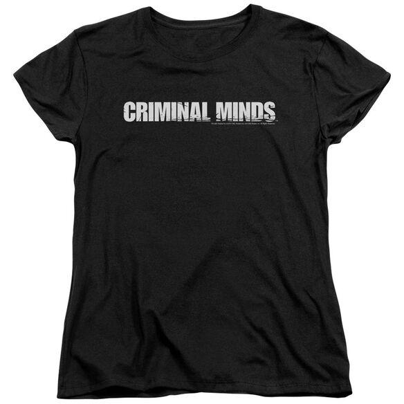 Criminal Minds Logo Short Sleeve Womens Tee T-Shirt
