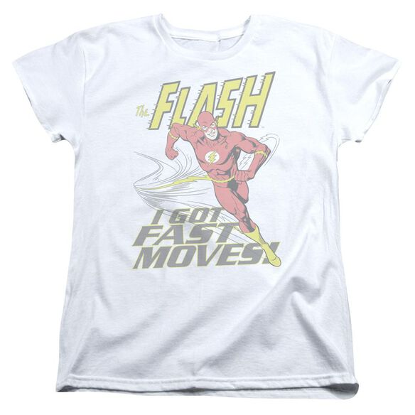 Dc Flash Fast Moves Short Sleeve Womens Tee T-Shirt