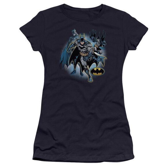 Jla Batman Collage Premium Bella Junior Sheer Jersey