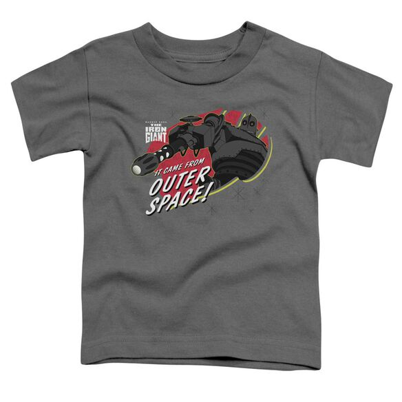 Iron Giant Outer Space Short Sleeve Toddler Tee Charcoal Sm T-Shirt