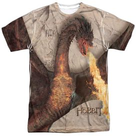 Hobbit Smaug Attack Short Sleeve Adult Poly Crew T-Shirt