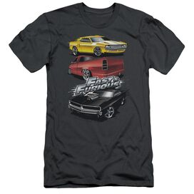 FAST AND THE FURIOUS MUSCLE CAR SPLATTER - S/S ADULT 30/1 - CHARCOAL T-Shirt