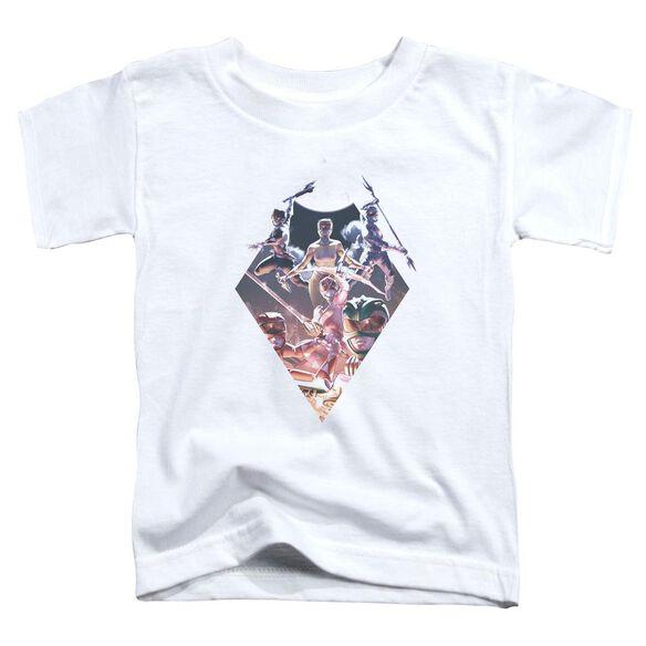 Power Rangers Sdcc Ranger Diamond 2 Short Sleeve Toddler Tee White T-Shirt