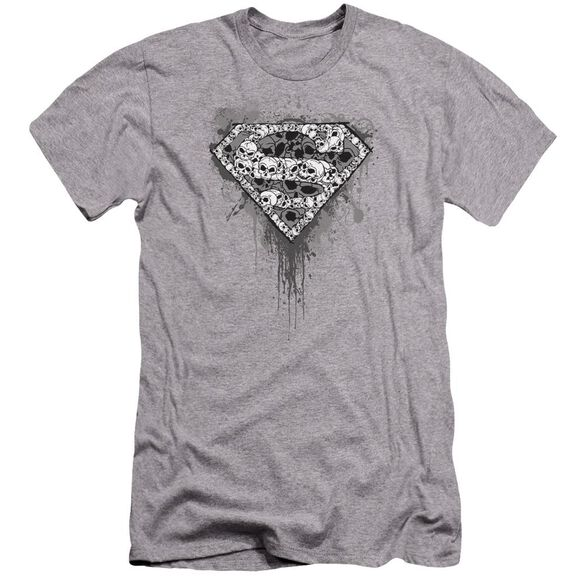 Superman Many Super Skulls Premuim Canvas Adult Slim Fit Athletic