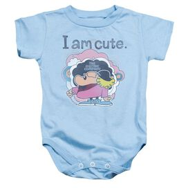 Electric Company I Am Cute Infant Snapsuit Light Blue