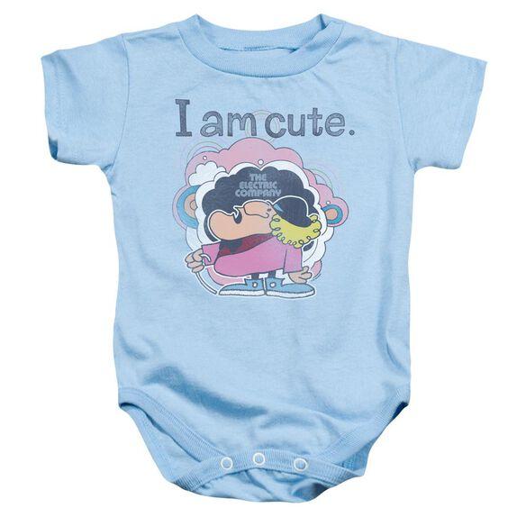 Electric Company I Am Cute Infant Snapsuit Light Blue