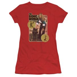 Bionic Woman Jamie And Max Short Sleeve Junior Sheer T-Shirt