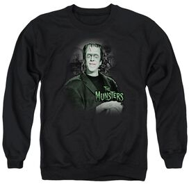 The Munsters Man Of The House - Adult Crewneck Sweatshirt - Black